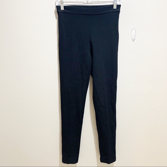 MAX MARA Black Stretch Viscose Slim Side Zip Pants